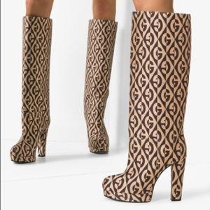 womens knee high Rhombus Boots